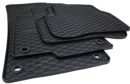 Gummimatten passend für VW Golf 5 6 Scirocco Jetta Fußmatten oval Gummi Premium Qualität Allwetter 4-teilig schwarz