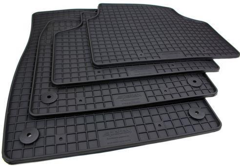 Gummimatten passend für VW ID3 ID.3 (E1)Fussmatten Premium Qualität Allwetter Matten 4-teilig schwarz Druckknopf rund