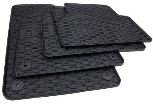 Gummimatten passend für VW Tiguan 5N Fußmatten Qualität Gummi Allwetter Matten 4-teilig schwarz