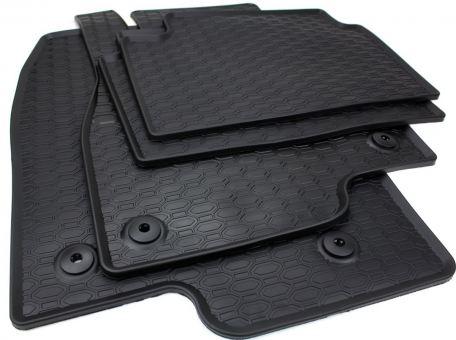 Gummimatten passend für Mazda 6 Kombi ab 2012 Fußmatten Gummi Premium Qualität Auto Allwetter 4-teilig schwarz rund Druckknopf