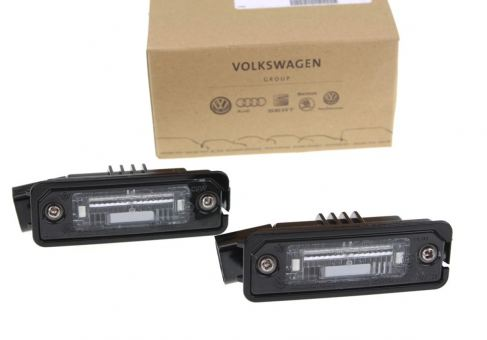 Original VW Seat Kennzeichenbeleuchtung Golf 4 5 6 Polo Eos Leon Passat / CC Scirocco Amarok Sharan Altea