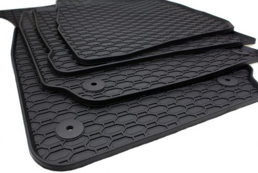 Gummimatten passend für VW Passat 3B 3BG Fussmatten Gummi Premium Qualität Auto Allwetter 4-teilig schwarz rund