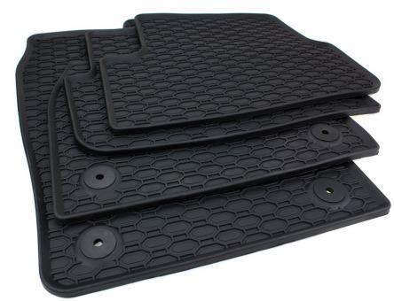 Gummimatten passend für Seat Ibiza 6F ab 06/2017/ Arona FR Fussmatten Gummi Premium Qualität Allwetter 4-teilig schwarz