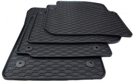 Auto Gummimatten passend für VW Touran 1T Fußmatten Allwetter Premium Qualität 4-teilig schwarz alle Touran 1T 2003-2015