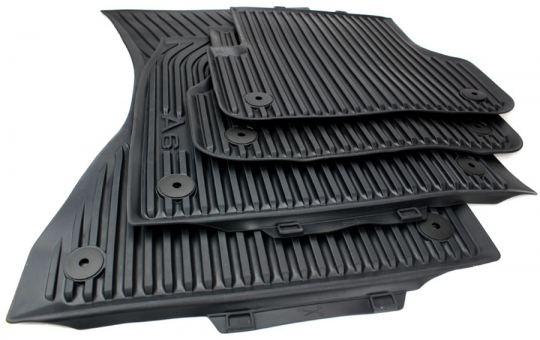 Original Audi Gummimatten A6 4G (C7) Fußmatten A6 Allroad S6 RS6 Allwetter 4-teilig schwarz