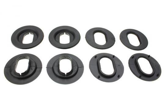 Drehknebel Befestigung für Fußmatten ovale Ausführung Ober-und Unterteil