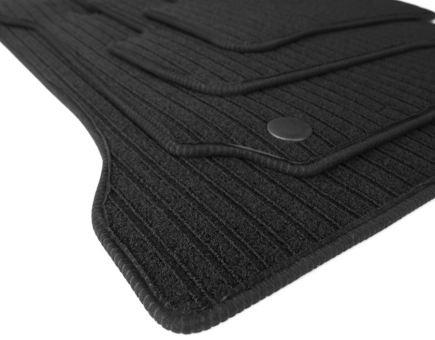 Fußmatten passend für Mercedes-Benz C-Klasse Coupe C204 RIPS Velours Premium Qualität 4-teilig Autoteppich schwarz