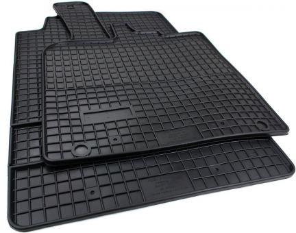 Gummimatten passend für Smart fortwo (451) ab 2007 Gummi Fußmatten Allwetter 2-teilig schwarz