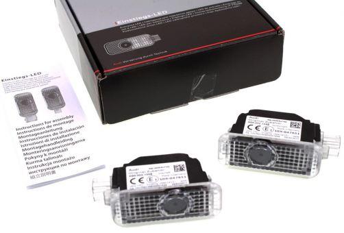 Original Audi LED Einstiegsbeleuchtung Logoprojektion Quattro für Fahrzeuge ab Werk m. LED Leuchten