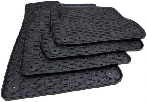 Waben Gummimatten passend für Audi A4 8E (B6 B7) Fußmatten Gummi Allwetter für Avant + Limousine