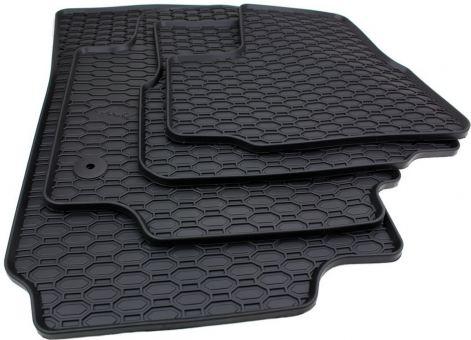 Gummimatten passend für VW UP!1S /passend für Skoda Citigo / passend für Seat Mii Fussmatten Premium Qualität Allwetter Matten Druckknopf rund