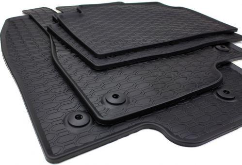 Gummimatten passend für Mazda 3 ab 2013 Fußmatten Gummi Premium Qualität Auto Allwetter 4-teilig schwarz rund Druckknopf