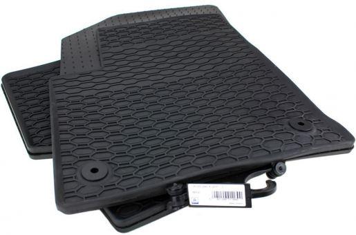 Gummimatten passend für Opel Crossland X ab 2017 Fußmatten Premium Qualität Allwetter 4-teilig schwarz rund Druckknopf