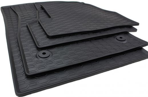 Gummimatten passend für Opel Mokka Chevrolet Trax Fußmatten Gummi Premium Qualität Auto Allwetter 4-teilig schwarz