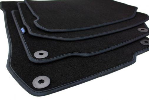 Fußmatten passend für VW Golf 4 Bora Beetle Velours Premium Qualität Autoteppich Druckknopf rund 4-teilig schwarz