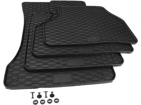 Gummimatten passend für BMW 5er E60 E61 Premium Qualität Auto Fußmatten Allwetter schwarz 4-teilig
