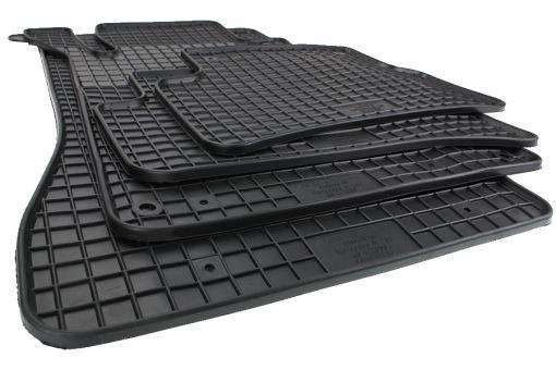 Gummimatten passend für Mercedes Benz C-Klasse W203 S203 Fussmatten Gummi Premium Qualität Auto Allwetter 4-teilig schwarz