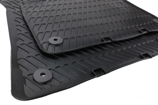 Original Audi Gummimatten für A3 S3 RS3 8P / Sportback / Cabriolet Fussmatten Gummi 2-teilig vorn schwarz