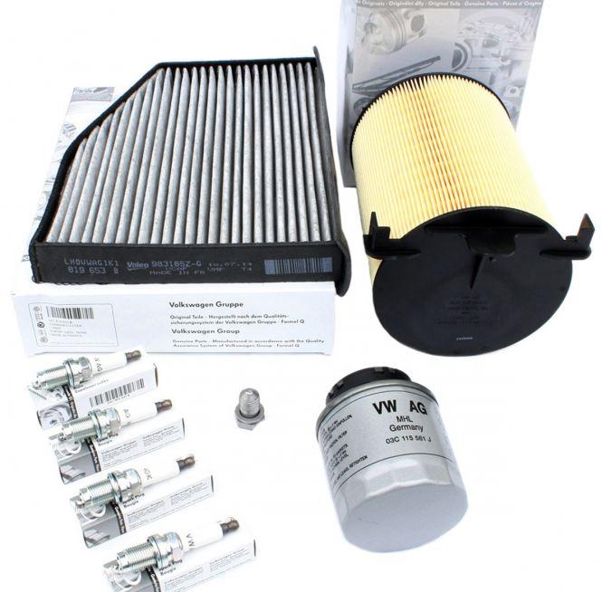 Original VW Teile Inspektion Filter Service 1.4L TSI Motor Golf 5 6 Touran Tiguan Passat 3C Ibiza Fabia BLG BMY CAXA