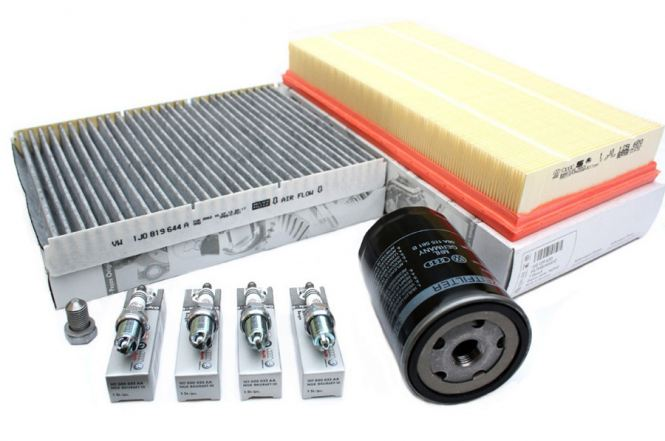 Original Audi VW Filter Inspektionspaket Golf 4 Bora Beetle 9C A3 8L 1.6 1.8 2.0L Benzin Motor