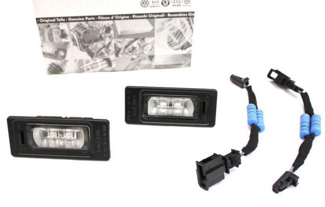 Original Audi TT 8J LED Kennzeichenleuchten + Widerstands Adapter S-Line LED Leuchten