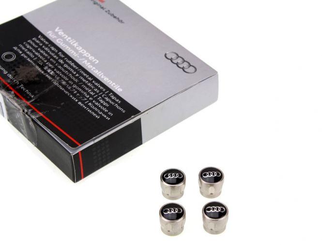 Original Ventilkappen Audi Logo Ringe A1 A3 A4 A5 A6 A7 A8 Aluventileinheit 4L0071215