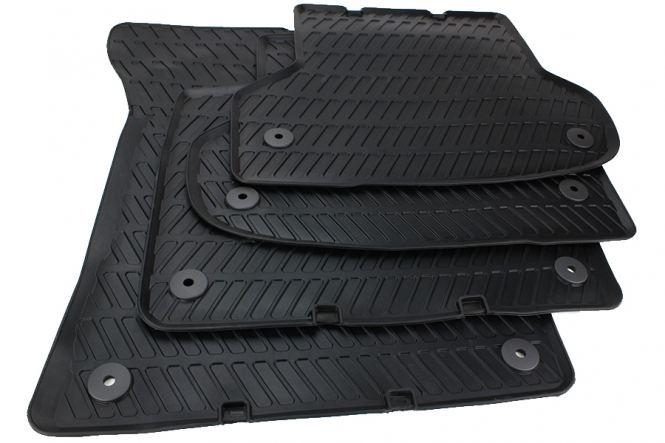 Original Audi A3 8P Gummimmatten S3 RS3 + Sportback + Cabriolet Gummi Fussmatten S-Line Allwetter 4-teilig schwarz