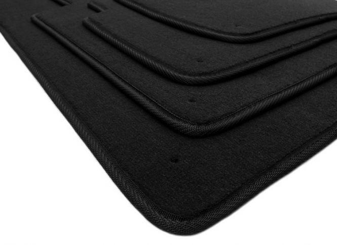 Fußmatten BMW 3er E46 Velours Original Qualität Auto Matten M3 Teppich Tuning 4-teilig schwarz