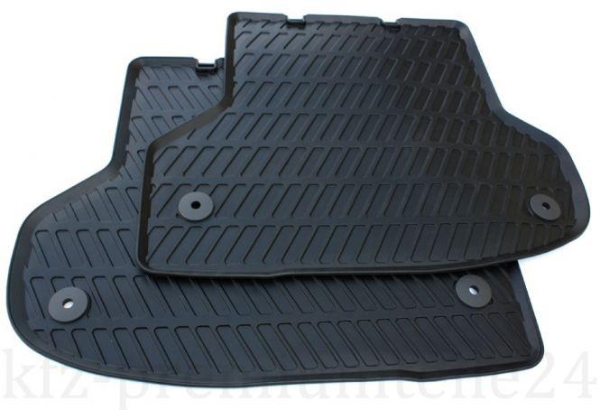 Original Audi A3 S3 RS3 8P / Sportback / Cabriolet Gummimatten S-Line Fußmatten hinten schwarz