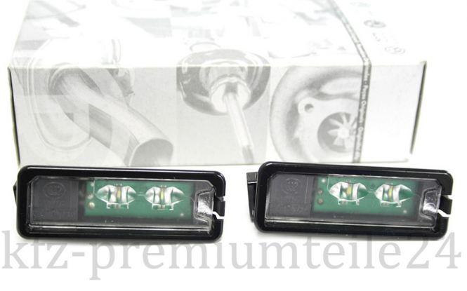 Original VW LED Kennzeichenbeleuchtung Leuchten Golf 4 5 6 7 Polo Eos Passat/CC Scirocco Amarok Sharan