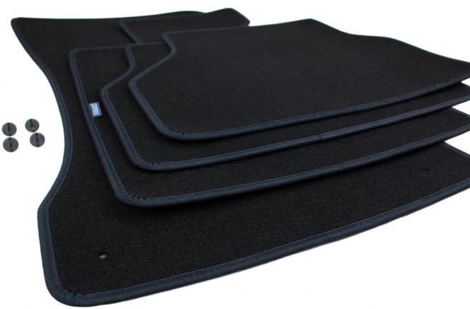 Fußmatten BMW 5er E60 Premium Velours Autoteppich Original Qualität Matten schwarz 4-teilig