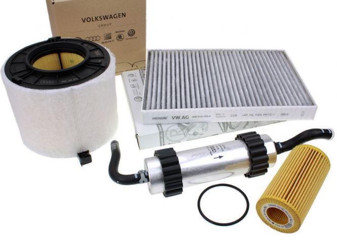 Original Audi Teile A4 (8W) A5 (F5) 3.0L V6 TDI Inspektionspaket Service Filter Motor großes KIT 4-teilig