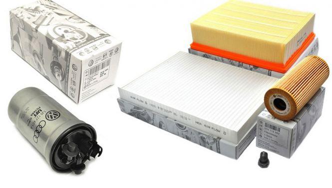 Original Audi Teile Inspektionspaket groß A4 8E TDI Motor Filter 5-teilig 1.9L 2.0L Dieselmotor