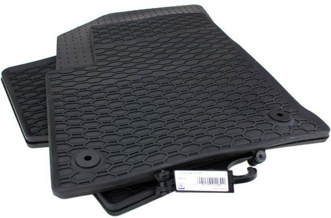 Gummimatten Opel Crossland X ab 2017 Fußmatten Original Qualität Allwetter 4-teilig schwarz rund Druckknopf