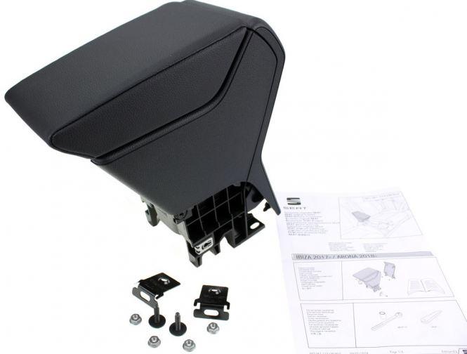 Original Seat Ibiza 6F Arona Armlehne Mittelarmlehne Nachrüstset schwarz