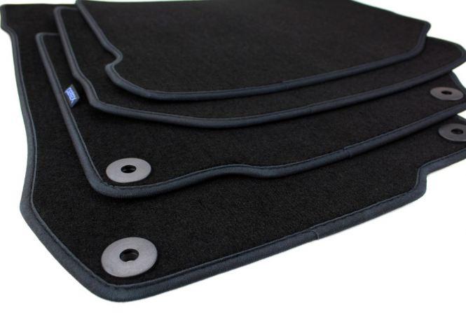 Fußmatten VW Golf 4 Bora Beetle Velours Original Qualität Autoteppich Druckknopf rund 4-teilig schwarz