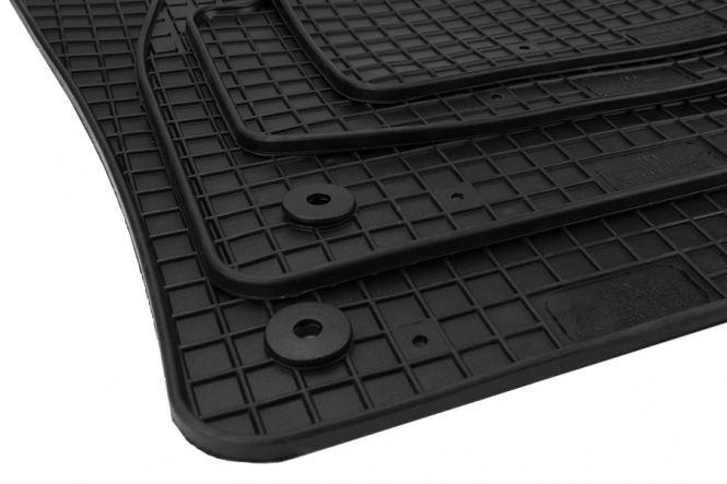 Gummimatten Seat Ateca ab 2016 Original Qualität Fußmatten R-Line Gummi Allwetter Matten 4-teilig schwarz Druckknopf rund