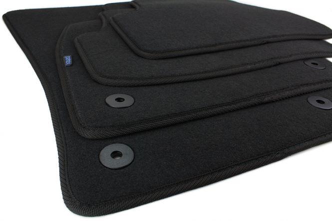 Fußmatten Seat Leon 5F Leon ST ab 2012 Velours Original Qualität Autoteppich GTI R 4-teilig schwarz