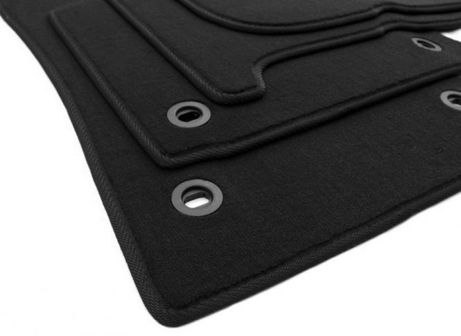 Fußmatten VW Touran 1T Velours Original Qualität Autoteppich 4-teilig schwarz Drehknebel oval