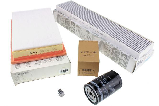 Original VW Sharan 7M Inspektionspaket 1.8L 2.0L Turbo Benzin Motor Filter Servicepaket 4-tlg AWC ATM