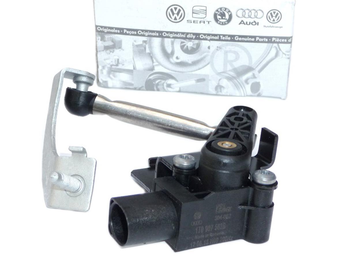 Original Audi Niveau Sensor A8 4E LWR Xenon Höhenverstellung Gestänge Scheinwerf