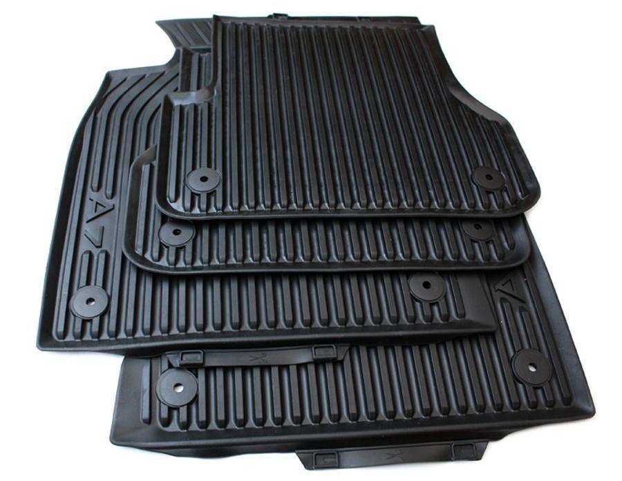 Gummi Fußmatten Satz hinten schwarz 2-teilig Audi A1 Original Audi NEU
