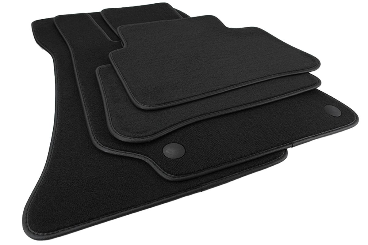Velours schwarz Fußmatten passend für MERCEDES E-Klasse W212 S212 ab´2009 4tlg
