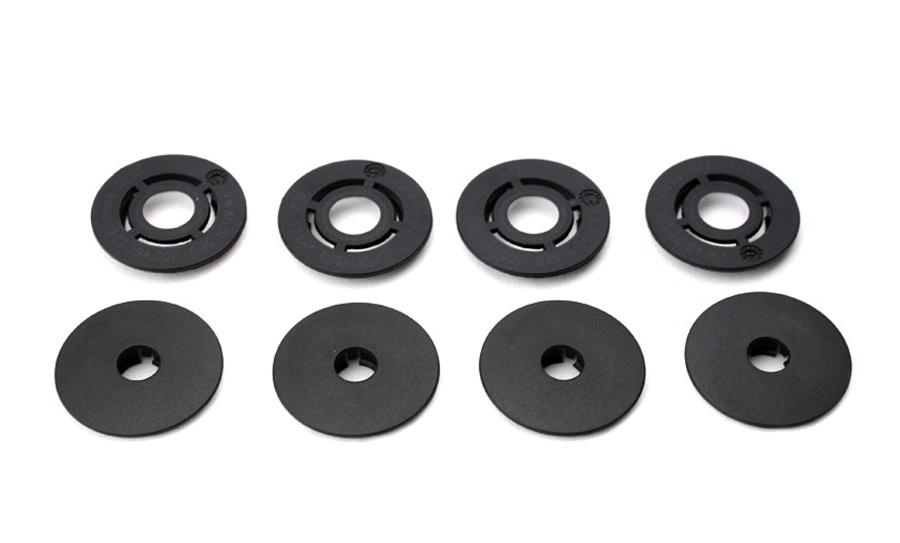 4 x Fußmatten Gummimatten Befestigungen Clips Set rund für Audi Seat Skoda VW