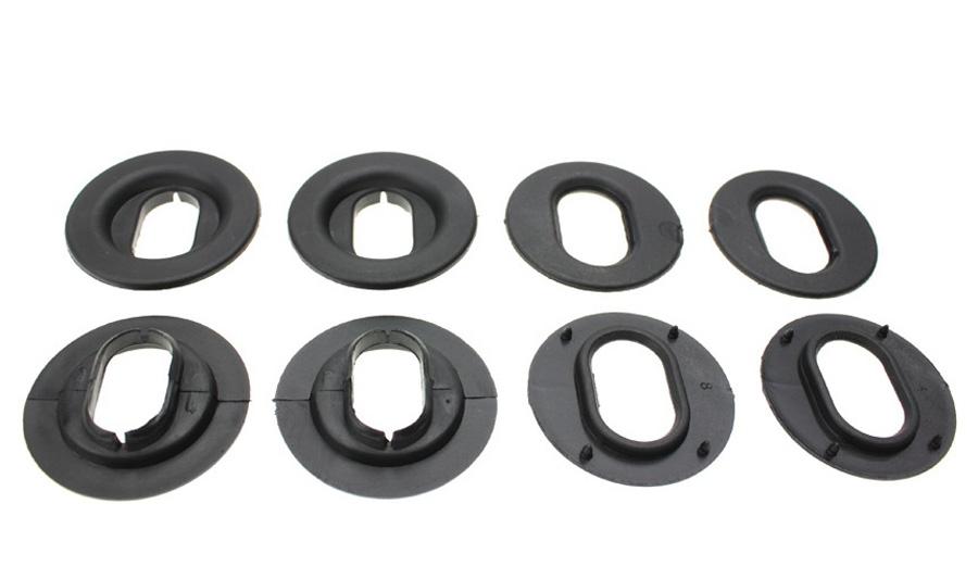 8 Stück Ford Befestigungen Fußmatten Gummimatten OVAL
